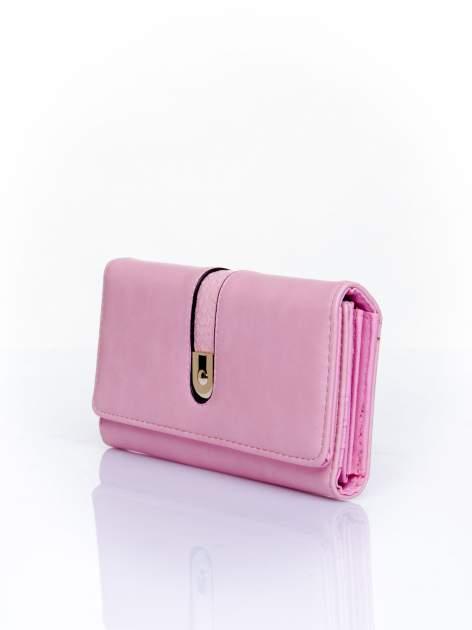 Różowy portfel ze złotym zapięciem                                   zdj.                                  3