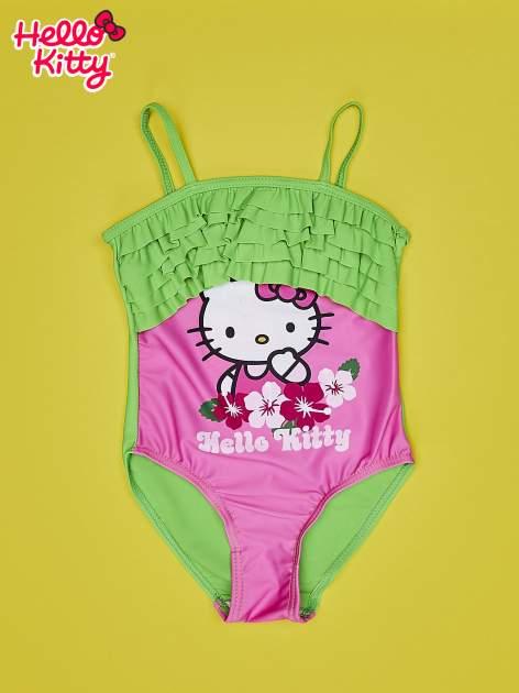 Różowy strój kąpielowy dla dziewczynki HELLO KITTY                                  zdj.                                  1