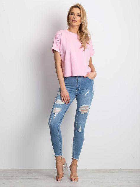 Różowy t-shirt Woodland                              zdj.                              4