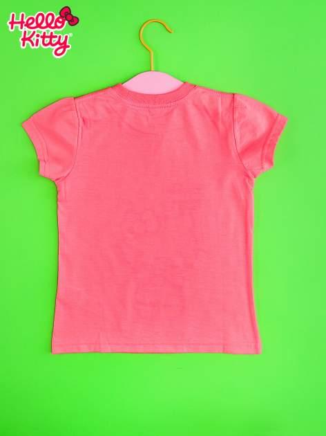 Różowy t-shirt dla dziewczynki HELLO KITTY z gwiadkami                                  zdj.                                  2