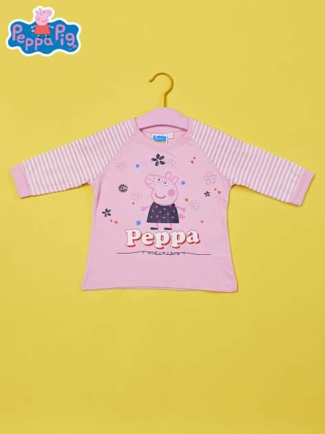 Różowy t-shirt dla dziewczynki ŚWINKA PEPPA