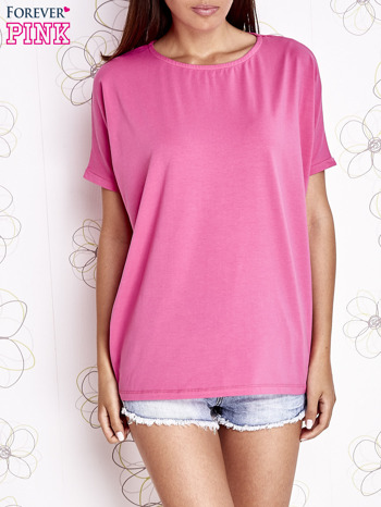 Różowy t-shirt oversize