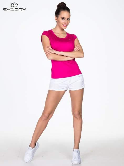 Różowy t-shirt sportowy termoaktywny                                   zdj.                                  2