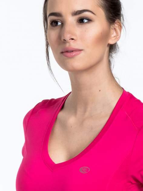 Różowy t-shirt sportowy termoaktywny                                  zdj.                                  5