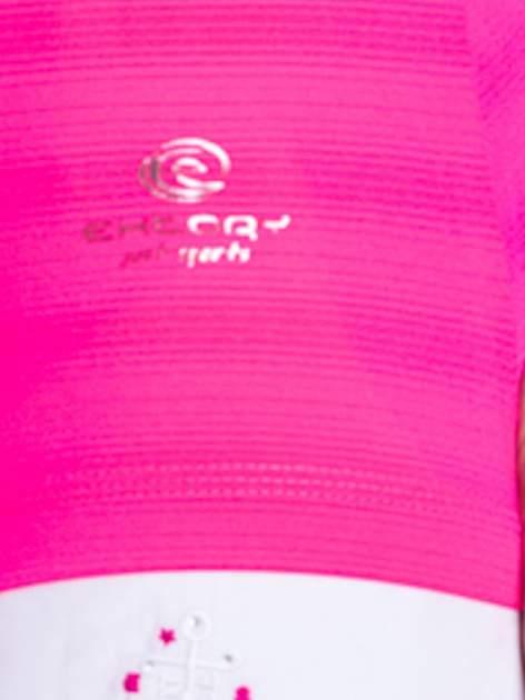 Różowy t-shirt sportowy w paseczki                                  zdj.                                  6