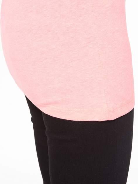 Różowy t-shirt z nadrukiem NYC zdobiony dżetami                                  zdj.                                  9