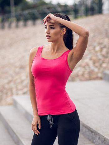 Różowy top damski bez rękawów                                  zdj.                                  9