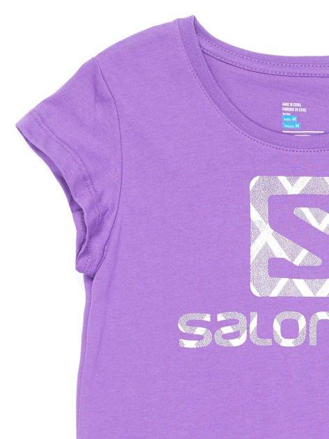 SALOMON Fioletowy t-shirt dla dziewczynki                              zdj.                              3