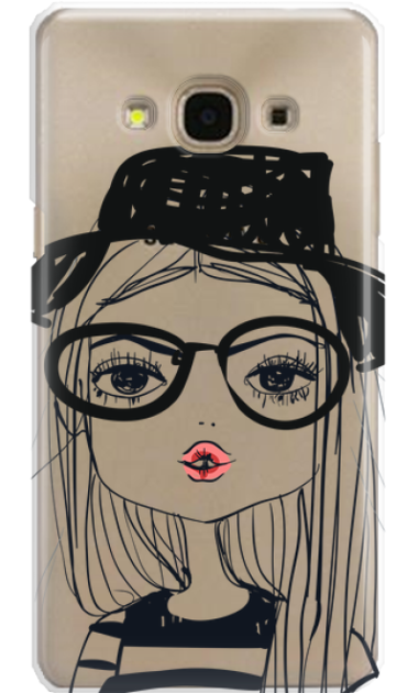 SAMSUNG A5 2017 GIRL WITH PINK LIPS