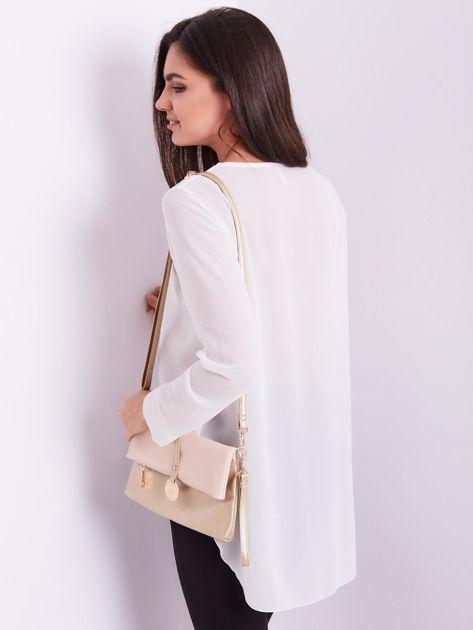 Biała bluzka ze sznurowaniem                              zdj.                              3
