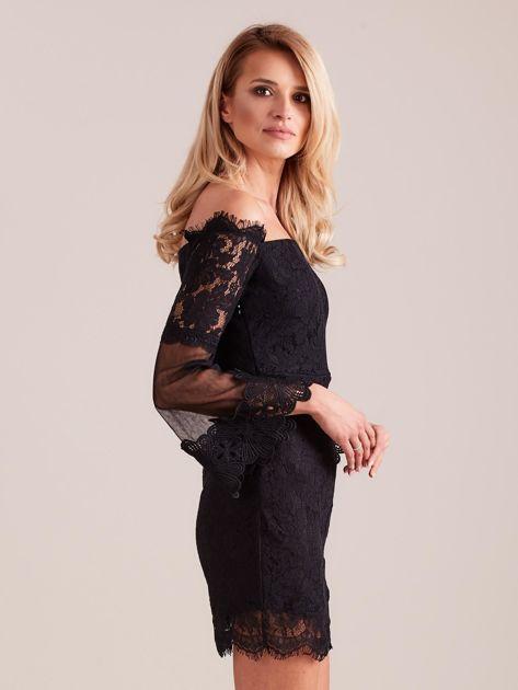 SCANDEZZA Czarna koronkowa sukienka                              zdj.                              5