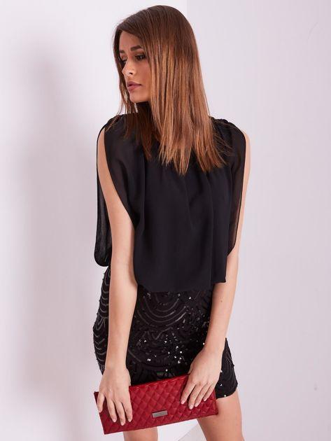Czarna sukienka z cekinami                              zdj.                              6