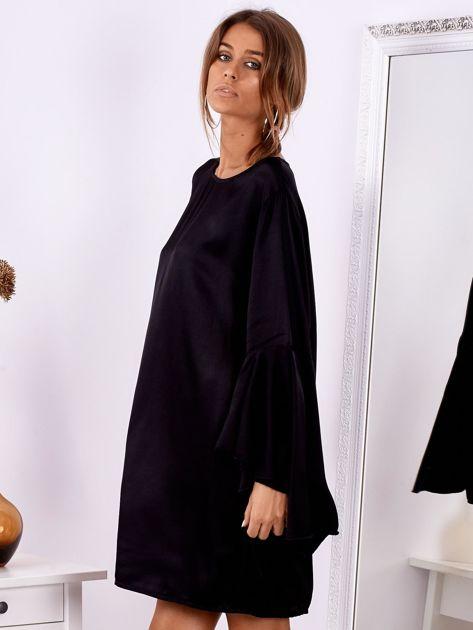 Czarna sukienka z hiszpańskimi rękawami                              zdj.                              4