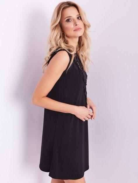Czarna sukienka z koronką                              zdj.                              9