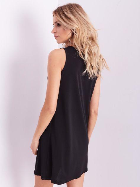 Czarna sukienka z koronką                              zdj.                              6