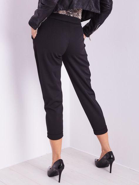 SCANDEZZA Czarne spodnie cygaretki                              zdj.                              10