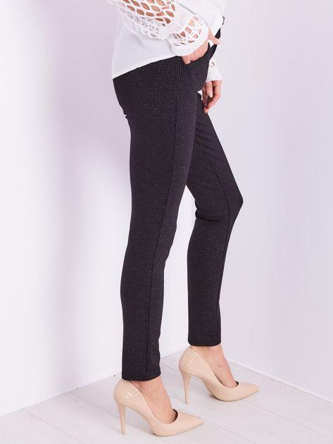 Czarne spodnie w delikatne groszki                              zdj.                              8