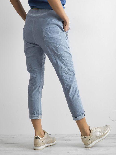 Niebieskie spodnie damskie                              zdj.                              2