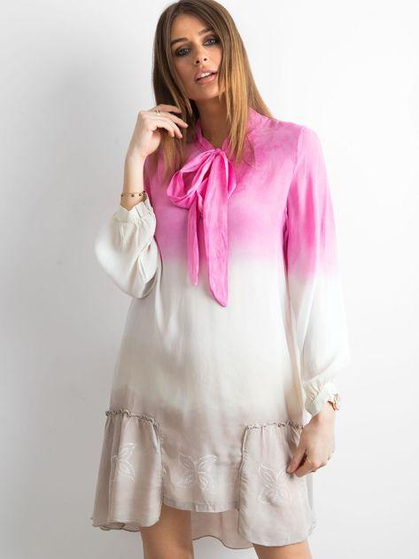 Różowa sukienka ombre                               zdj.                              1