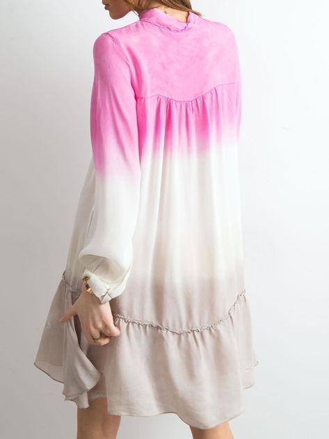Różowa sukienka ombre                               zdj.                              2