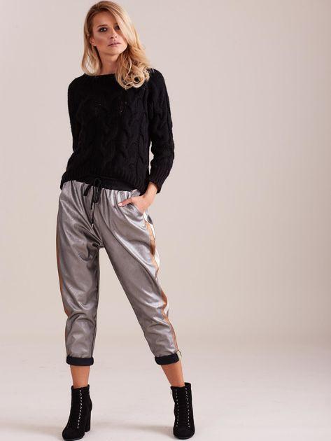 Srebrne skórzane spodnie                              zdj.                              1
