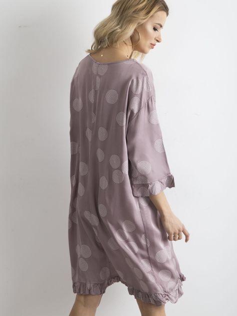Sukienka we wzory fioletowa                               zdj.                              2
