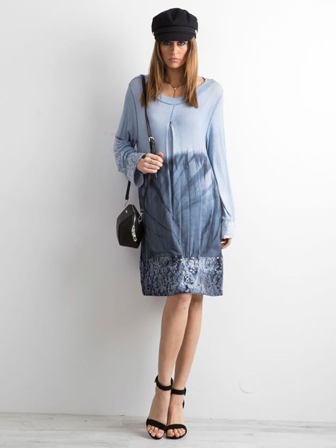 Sukienka z cekinami niebieska                              zdj.                              4