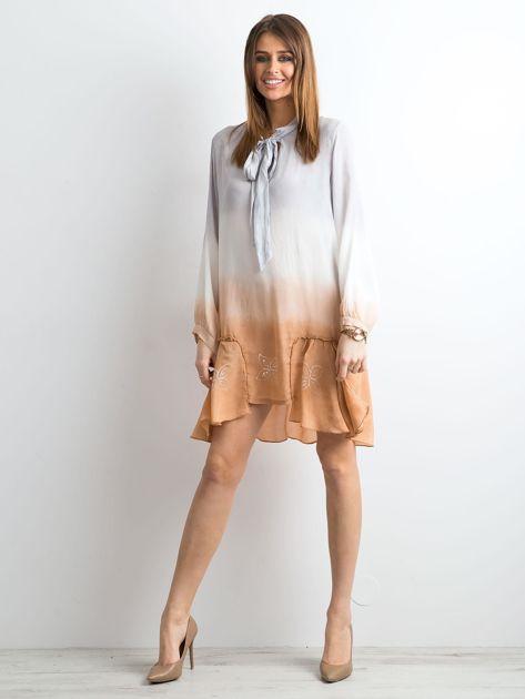 Szara sukienka ombre                               zdj.                              4