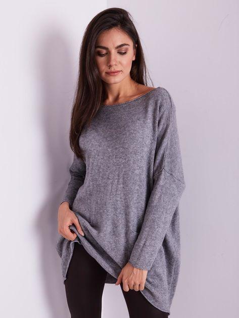Szary długi sweter                              zdj.                              7