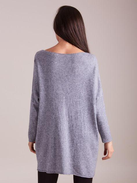Szary długi sweter                              zdj.                              6