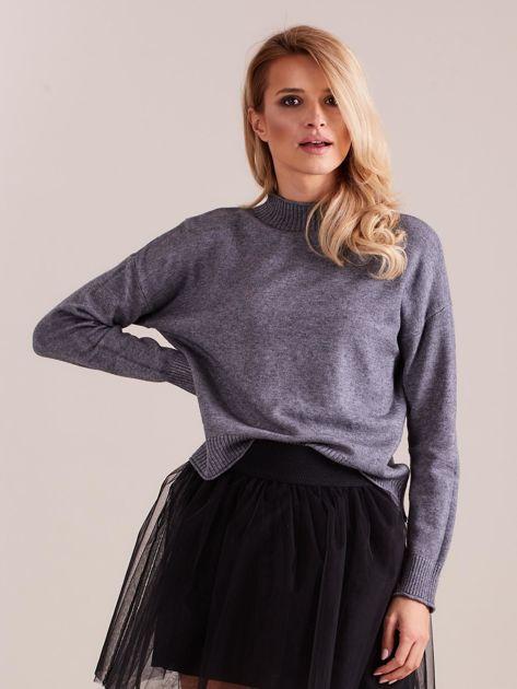 Szary sweter damski                              zdj.                              4