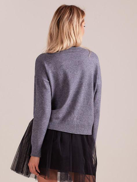 Szary sweter damski                              zdj.                              3