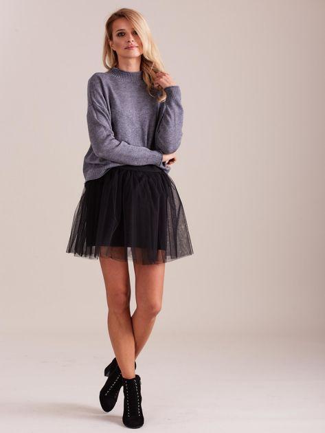 SCANDEZZA Szary sweter damski                              zdj.                              1