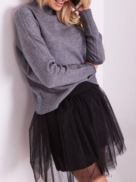 Szary sweter damski                              zdj.                              2