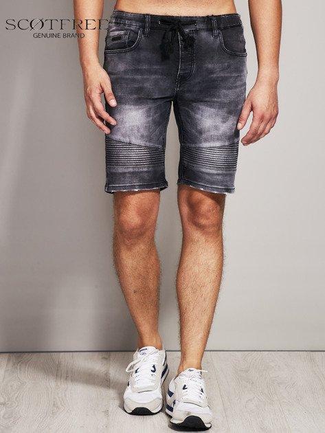 SCOTFREE Czarne jeansowe szorty męskie                              zdj.                              1