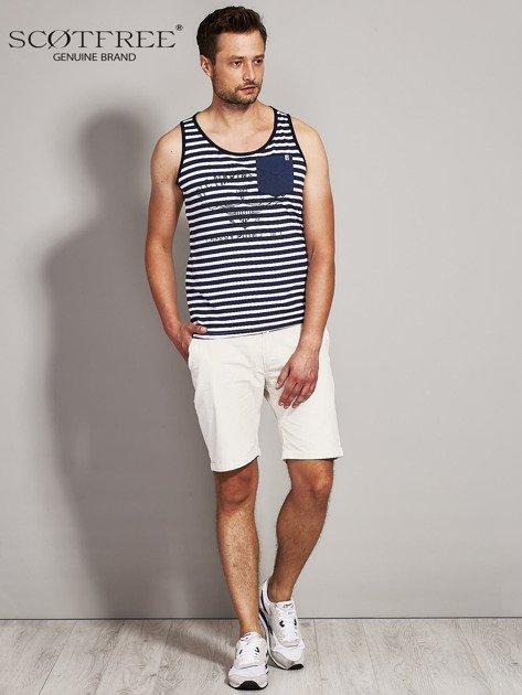 SCOTFREE Granatowy top męski w marynarskim stylu                              zdj.                              5