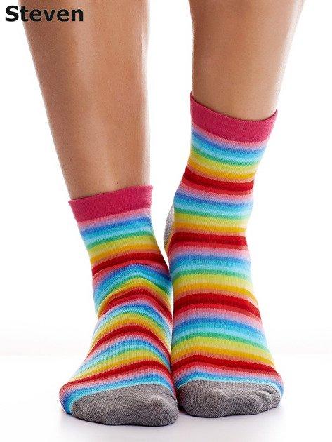 STEVEN Bawełniane skarpety w kolorowe paski                              zdj.                              1