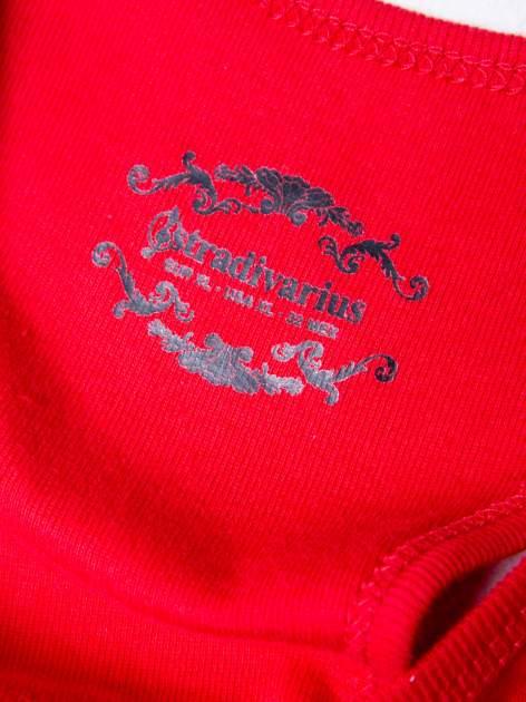 STRADIVARIUS Czerwony top basic typu bokserka                                  zdj.                                  3