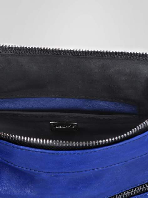 STRADIVARIUS Granatowa torba z zipami                                  zdj.                                  3