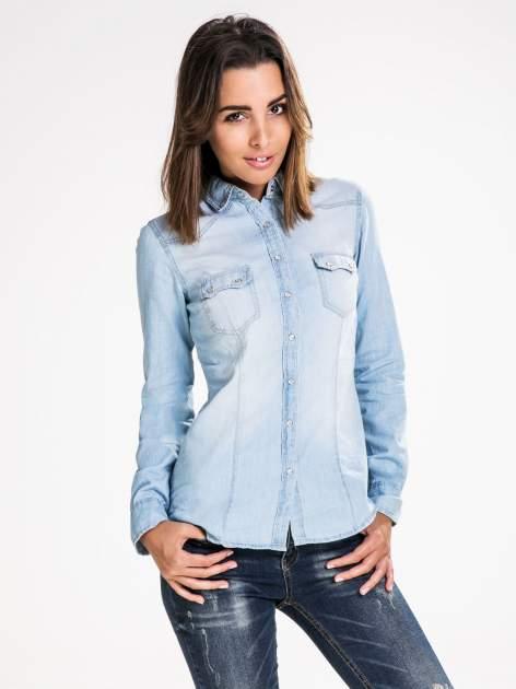 STRADIVARIUS Jeansowa koszula z kieszonkami