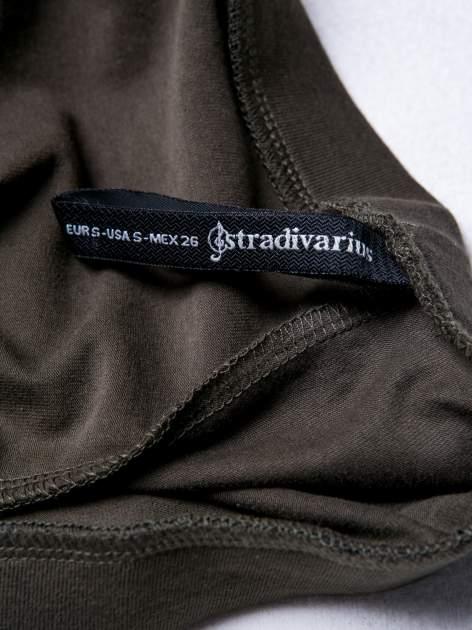 STRADIVARIUS Khaki legginsy basic                                  zdj.                                  3