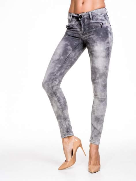 STRADIVARIUS Szare spodnie typu skinny jeans z efektem dekatyzowania