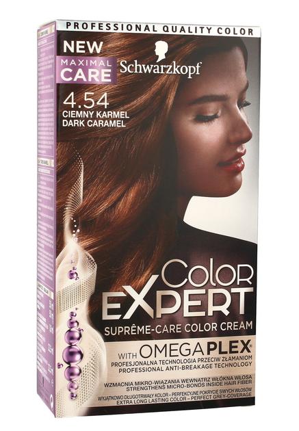 """Schwarzkopf Color Expert Krem koloryzujący do włosów nr 4.54 Ciemny Karmel  1op."""""""