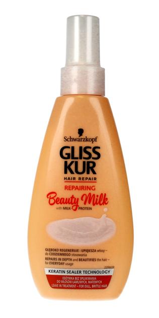 """Schwarzkopf Gliss Kur Beauty Milk Odżywka-spray do włosów suchych i zmęczonych Repairing  150ml"""""""
