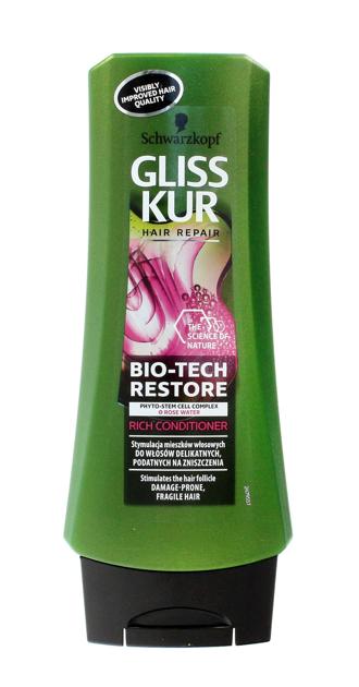 """Schwarzkopf Gliss Kur Bio-Tech Restore Odżywka regenerująca do włosów delikatnych  200ml"""""""