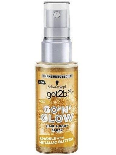 """Schwarzkopf Got 2b Go'N'Glow Spray rozświetlający do włosów i ciała Gold  50ml"""""""