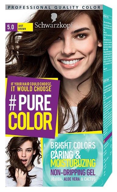 """Schwarzkopf Pure Color Farba do włosów w żelu nr 5.0 Just Brown  1op."""""""
