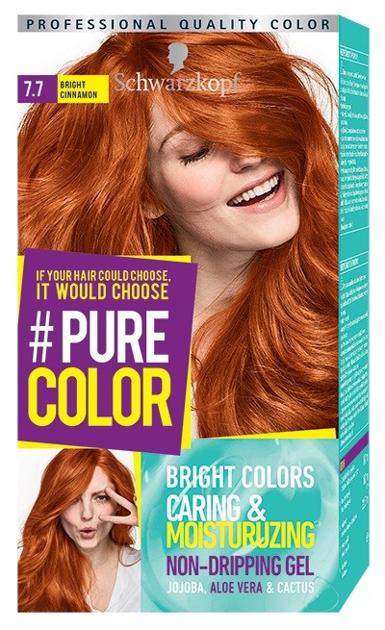 """Schwarzkopf Pure Color Farba do włosów w żelu nr 7.7 Bright Cinnamon  1op."""""""