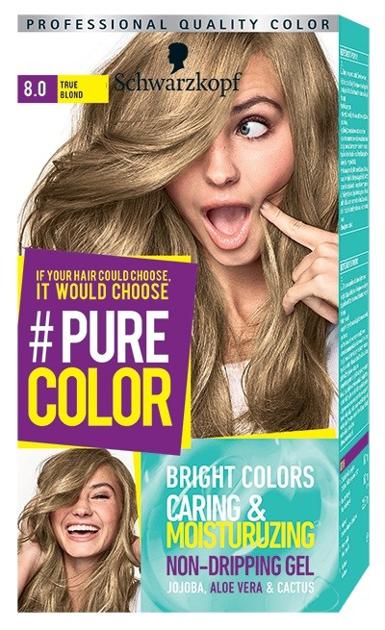 """Schwarzkopf Pure Color Farba do włosów w żelu nr 8.0 True Blond  1op."""""""
