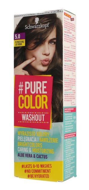 """Schwarzkopf Pure Color Washout Żel koloryzujący do włosów  nr 5.0 Po Prostu Brąz  1op."""""""
